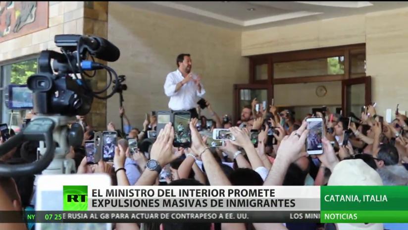 El ministro del Interior italiano promete expulsiones masivas de inmigrantes