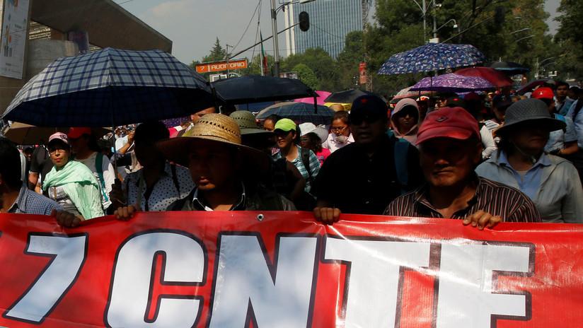Maestros protestan en huelga nacional y provocan caos vehicular en Ciudad de México