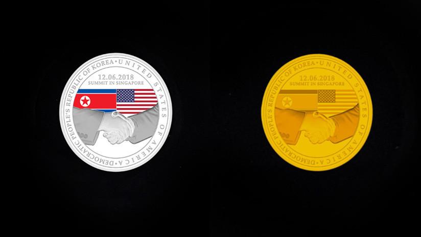 FOTOS: Singapur anuncia una emisión de monedas conmemorativas dedicadas a la reunión de Trump y Kim