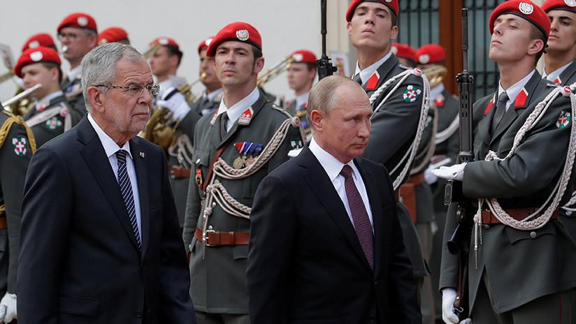 Putin inicia un encuentro con el presidente de Austria en Viena