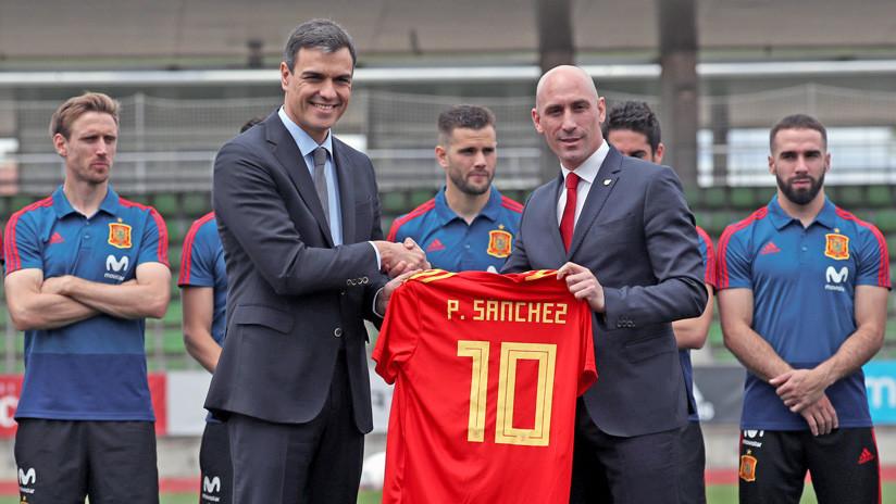 Pedro Sánchez visita a la selección española antes del Mundial de Rusia 2018 (VIDEO)