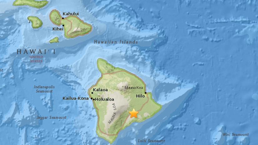 Se produce un terremoto cerca del volcán hawaiano Kilauea