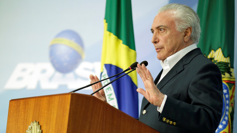 Policía de Brasil pide levantar el secreto telefónico de Michel Temer