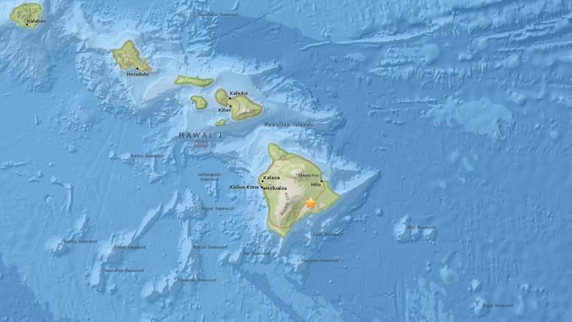 Un sismo de 5,6 se registra cerca del volcán Kilauea en Hawái