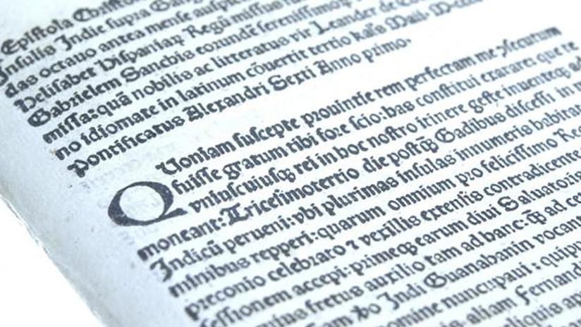 Estados Unidos entrega a España una carta de Cristóbal Colón que había sido robada