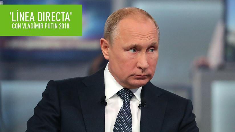 VIDEO COMPLETO: Vladímir Putin contesta las preguntas de ciudadanos de Rusia