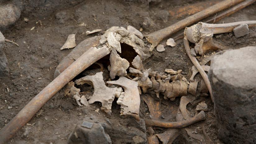 FOTO: Encuentra el esqueleto del exmarido de su mujer mientras trabajaba en el huerto