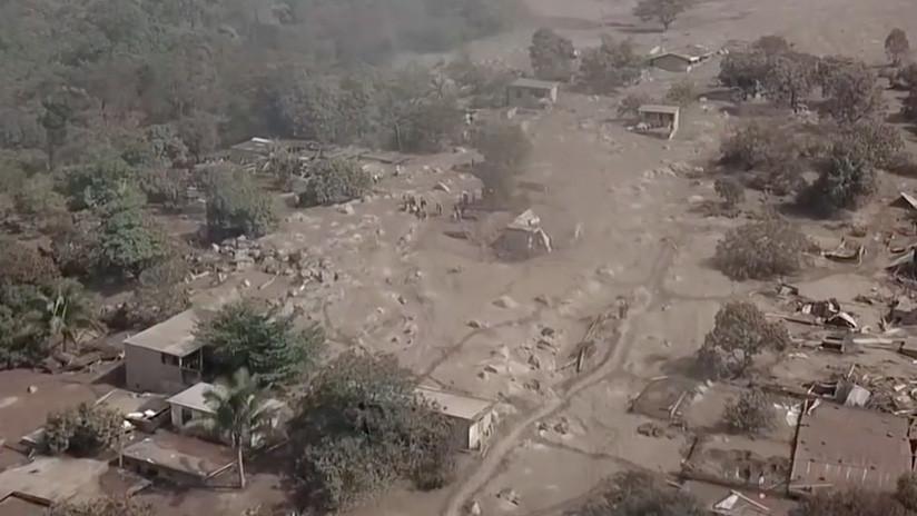 VIDEO: Las desoladoras imágenes de El Rodeo, el pueblo arrasado por el Volcán de Fuego en Guatemala