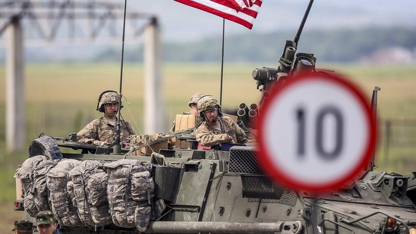 FOTO: 13 heridos al chocar 4 vehículos blindados de EE.UU. en una carretera de Lituania