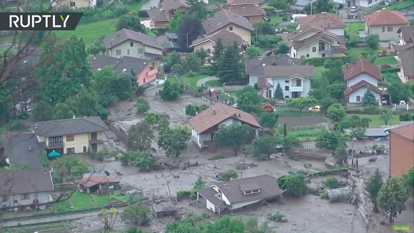 VIDEO: Un deslizamiento de tierra arrasa una población alpina en Italia