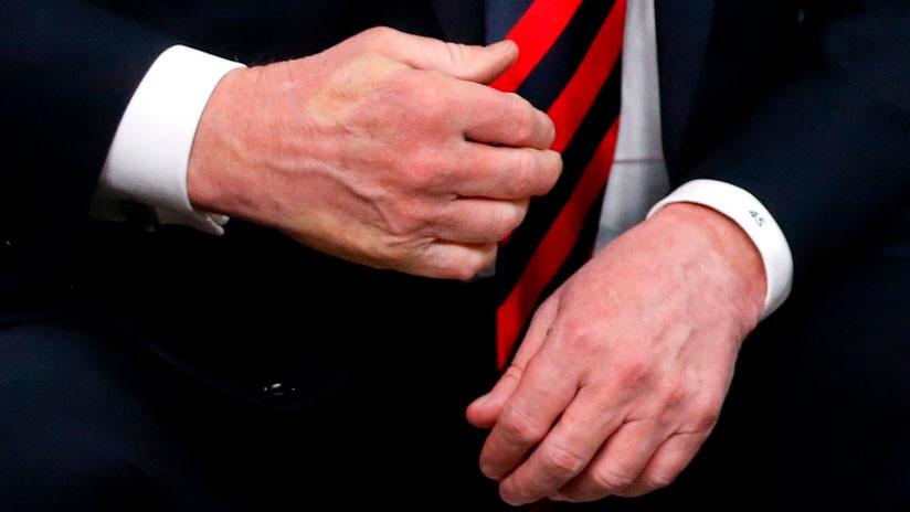 FOTOS: Macron deja su pulgar marcado en la mano de Trump tras un fuerte apretón en la cumbre del G7