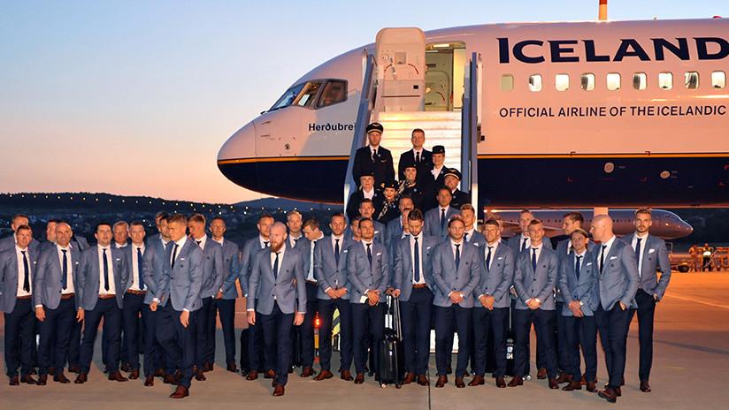 Islandia aterriza en Rusia para debutar en una Copa Mundial