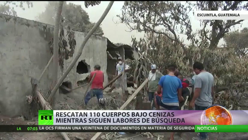 Guatemala: Aumentan a 110 las víctimas mortales del Volcán de Fuego
