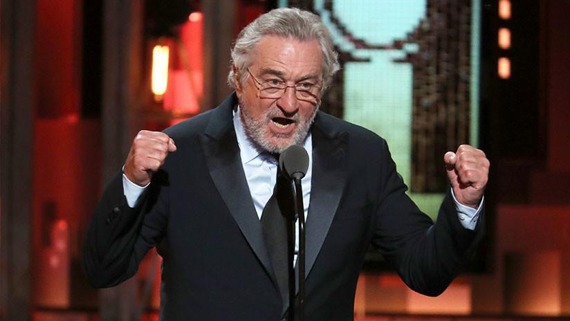 VIDEO: Robert De Niro insulta a Trump durante los premios Tony y recibe una gran ovación