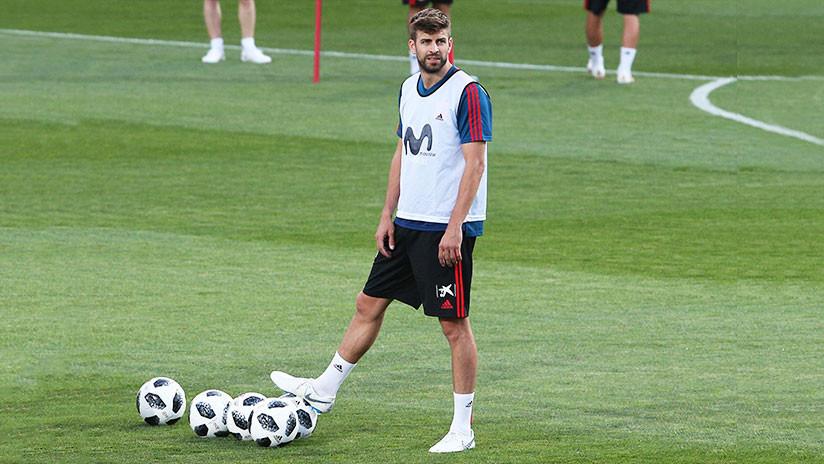 Mundial de Rusia 2018: Piqué se retira con molestias del entrenamiento