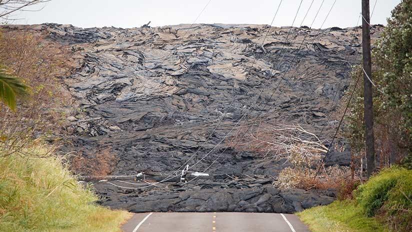 La erupción del volcán Kilauea en Hawái genera más de un kilómetro de nuevas tierras