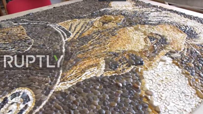 Mundial 2018: Una calle de Kazán mostrará mosaicos de Messi y de Salah (FOTOS, VIDEO)