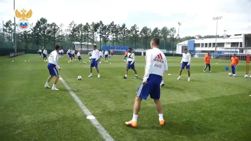 VIDEO: La selección rusa se pone a punto en vísperas del Mundial