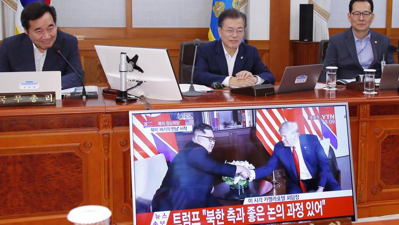 """""""Desnuclearización completa"""": El deseo del presidente surcoreano tras la cumbre entre Kim y Trump"""