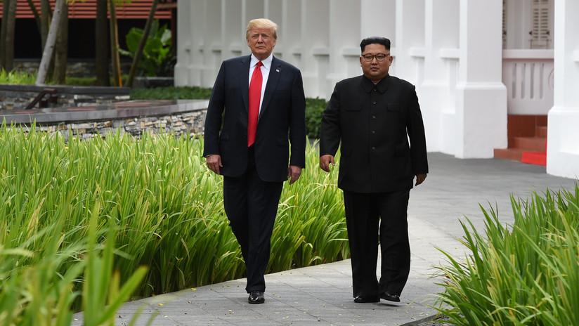 Trump anuncia la firma de un documento con Kim Jong-un