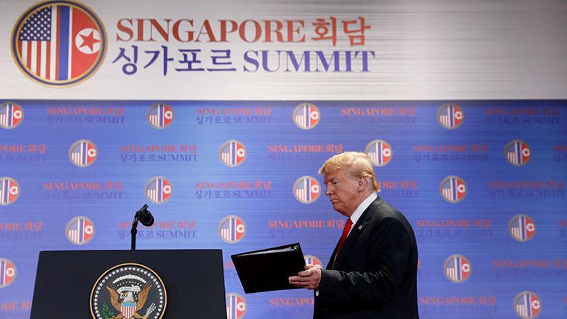 Trump tras su reunión con Kim Jong-un: Las sanciones se mantendrán en vigor