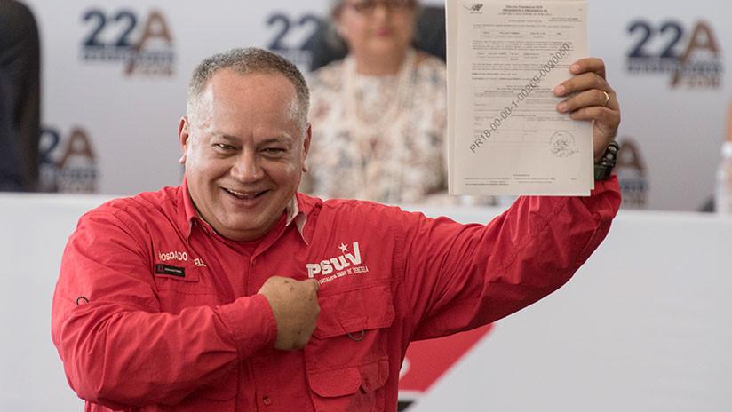 Confisca al bolivariano Diosdado Cabello 800 millones de dólares