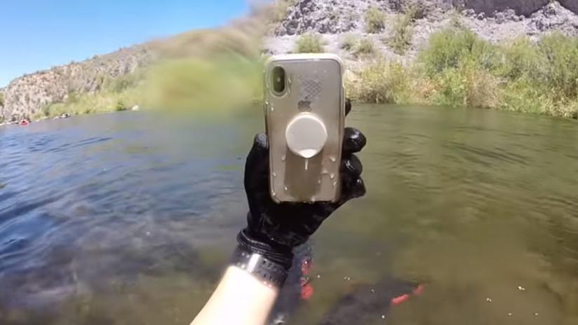 VIDEO: Encuentra un iPhone X que sobrevivió bajo el agua más de 2 semanas