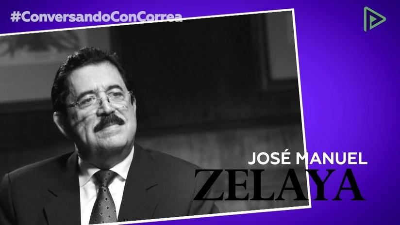 """Manuel Zelaya a Correa: """"El pueblo hondureño está de pie, pese al golpe de Estado y la represión"""""""