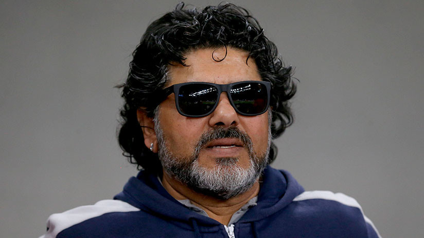 Maradona se dirige a los espectadores rusos antes del Rusia - Arabia Saudita