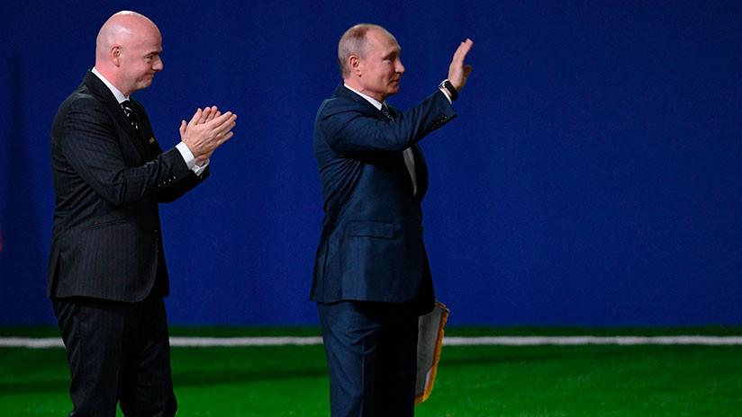Putin y Gianni Infantino inauguran la Copa del Mundo 2018