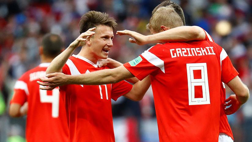 Rusia firma la segunda mayor goleada en un partido inaugural de un Mundial