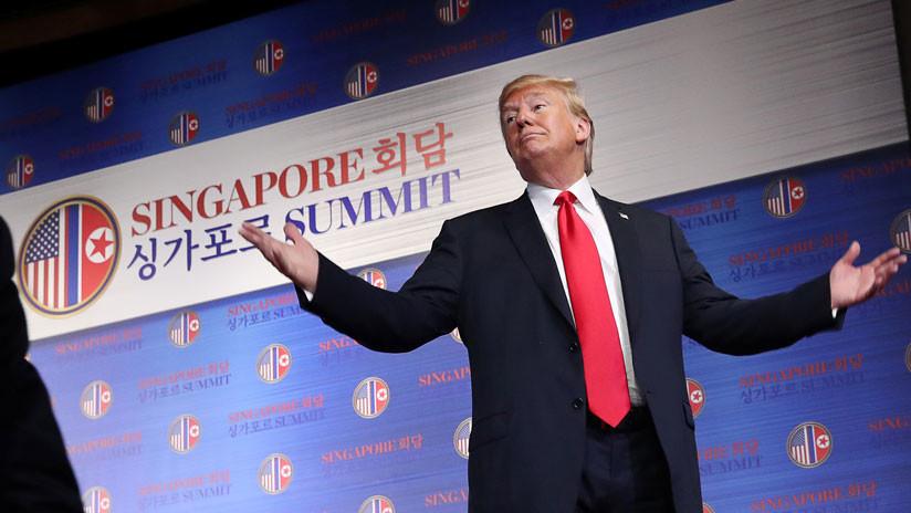 """Trump: """"Kim habla y su pueblo se endereza y presta atención. Quiero que mi pueblo haga lo mismo"""""""