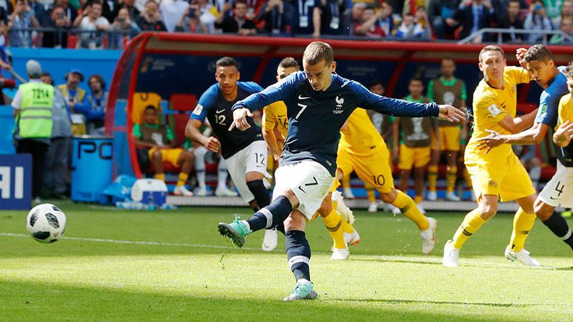 Primer partido del Grupo C: Francia supera a Australia por 2-1