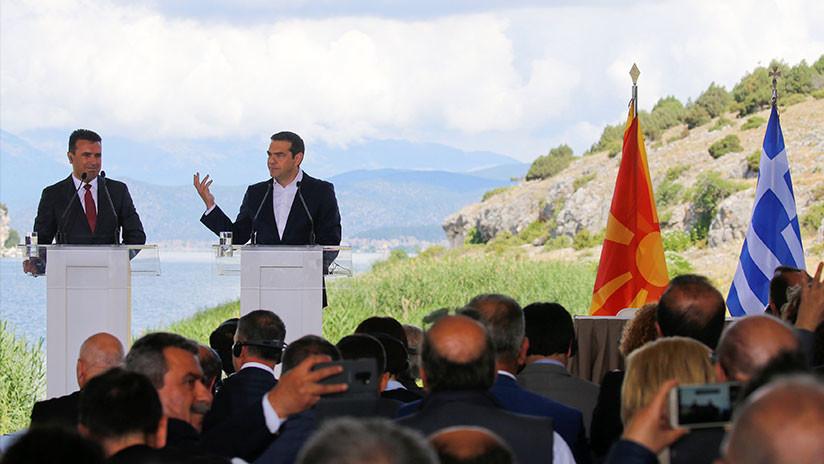 Fin de un conflicto de 27 años: Macedonia firma un acuerdo con Grecia para cambiar su nombre oficial