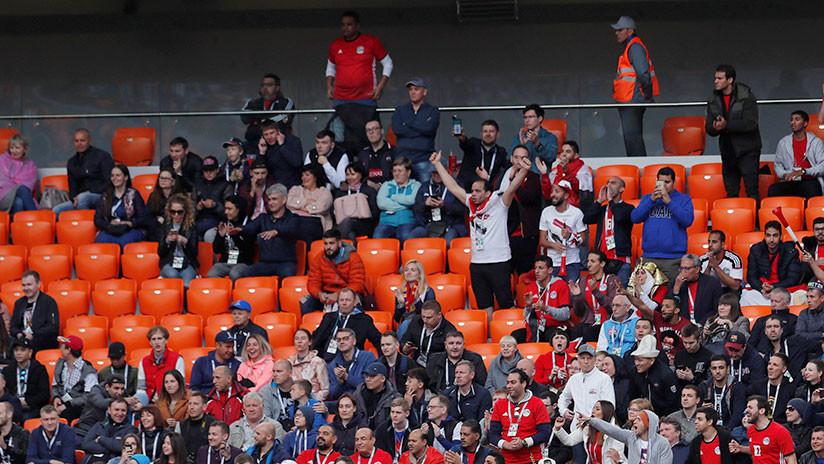 La FIFA explica los asientos vacíos en el partido Egipto-Uruguay
