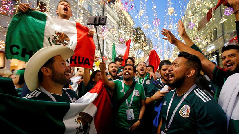 VIDEOS: Los hinchas mexicanos celebran la sorprendente victoria ante Alemania