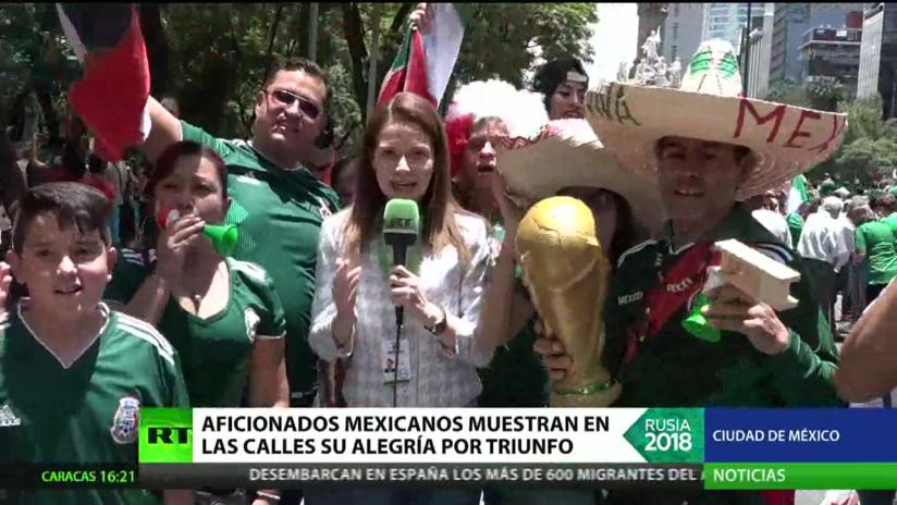La alegría se desborda en México tras la victoria ante Alemania