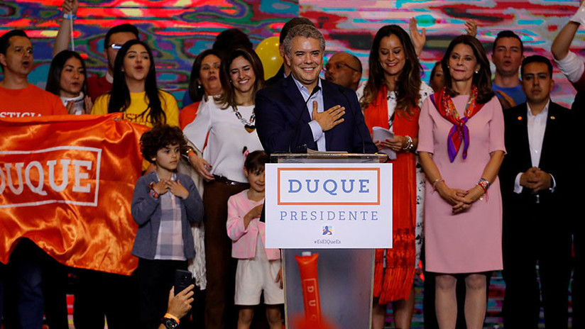 Iván Duque es elegido nuevo presidente de Colombia