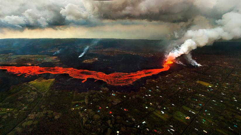 VIDEO: El hipnotizante flujo de un río de lava del volcán Kilauea