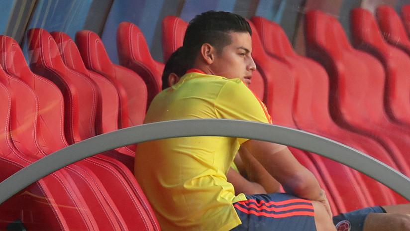 Preocupación en Colombia por posible ausencia de James Rodríguez en el debut contra Japón