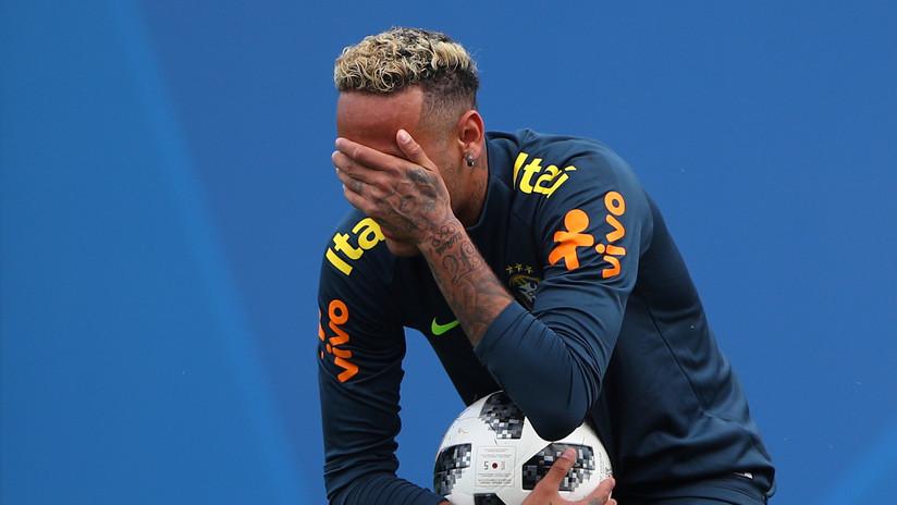Alerta en Brasil: Neymar se entrenó solo 10 minutos debido a fuerte dolor en uno de sus tobillos