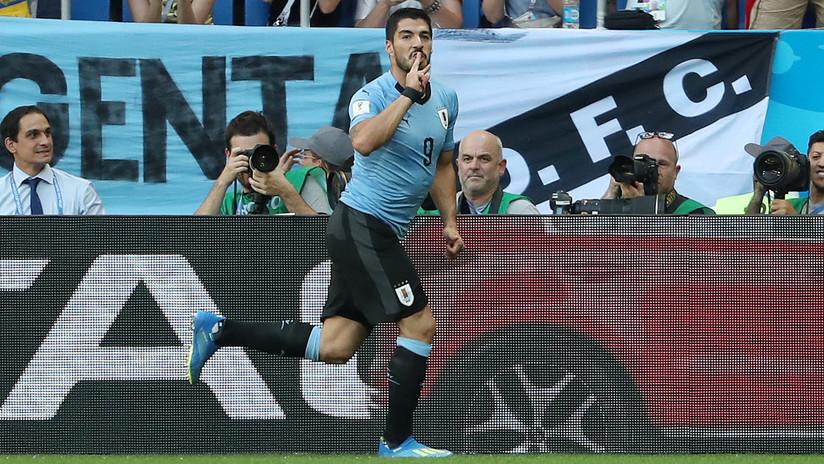Uruguay derrota a Arabia Saudita y clasifica a octavos de final del Mundial de Rusia