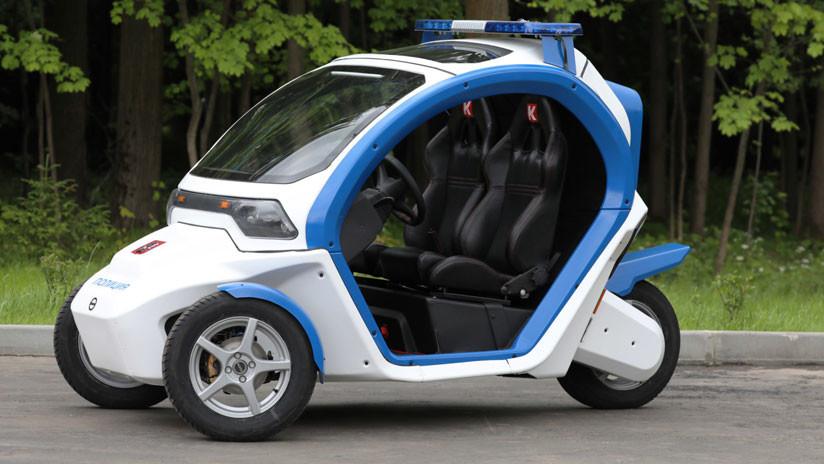 FOTOS, VIDEO: Kaláshnikov suministra vehículos futuristas a la Policía de Moscú
