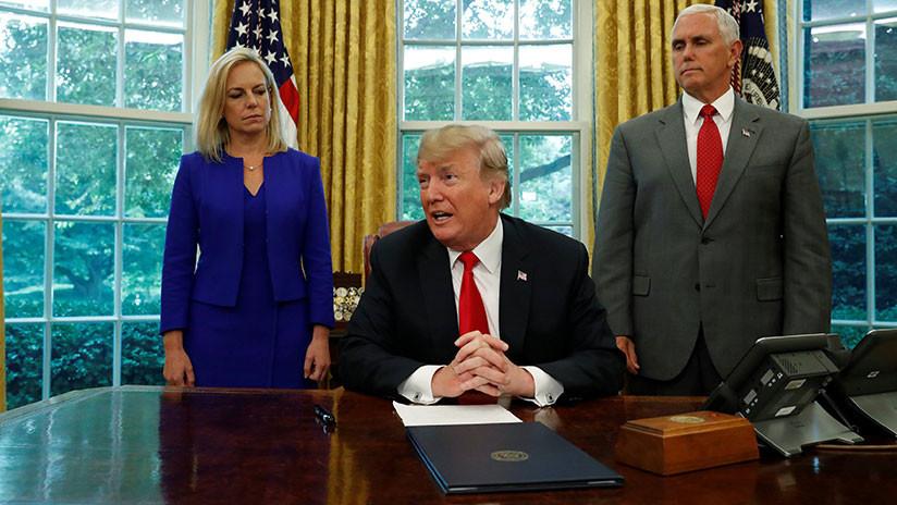 Trump assina decisão executiva para acabar com a separação de famílias de migrantes irregulares
