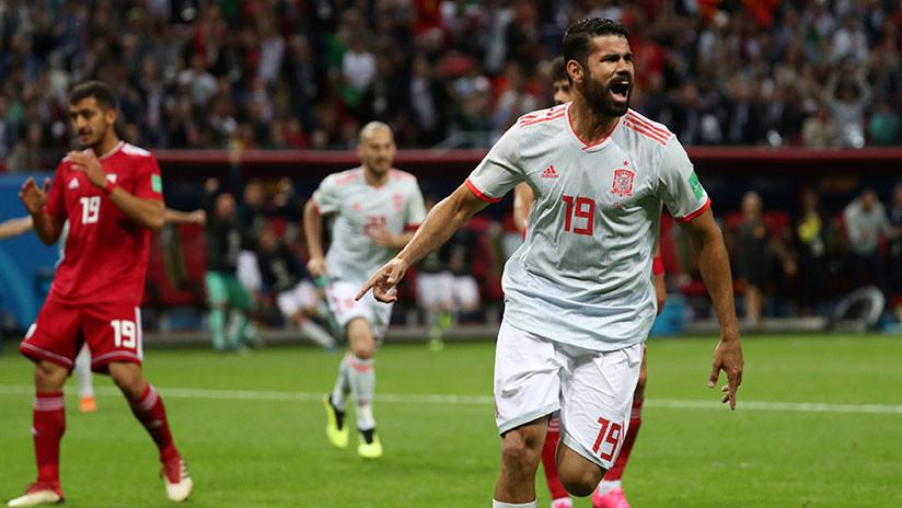 España anota el primer gol del encuentro contra Irán