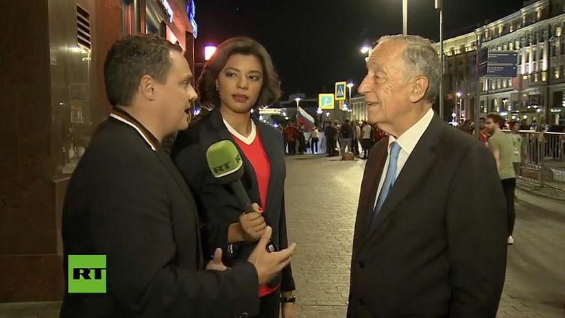 """Presidente de Portugal a RT: """"Campeón de Europa es una cosa, campeón del mundo es diferente"""""""