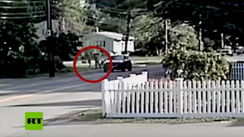VIDEO: Captan el momento cuando agreden e intentan secuestrar a una mujer que practica 'jogging'