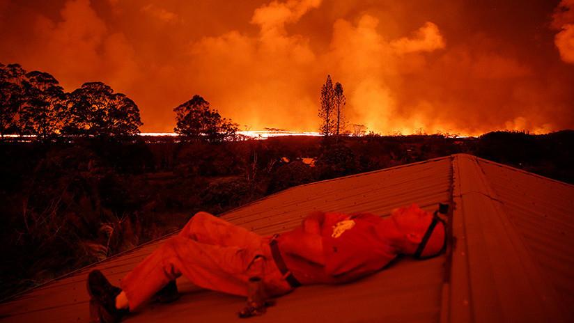 FOTO: La erupción del volcán Kilauea es tan potente que se ve desde la EEI