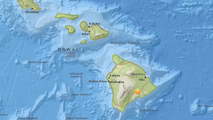 Se registra un temblor de magnitud 5,4 asociado a una erupción volcánica en Hawái