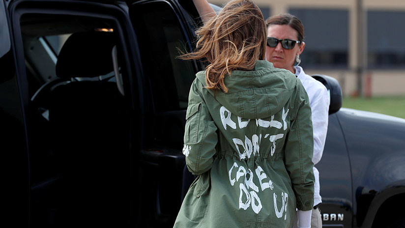 'Realmente me importa': una línea de ropa responde a la polémica chaqueta de Melania